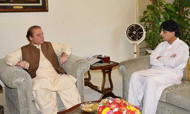 PM Nawaz directs interior minister to continue ongoing operation in Karachi