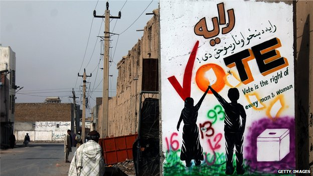 Afghanistan's presidential election: Polling underway