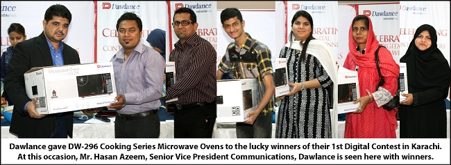 Dawlance Lucky Winners of their 1st Digital Contest - English Picture