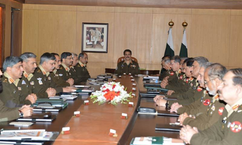 Corps Commanders meeting underway