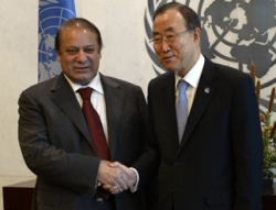 Nawaz Sharif asks UN to take steps for peaceful settlement of Kashmir issue