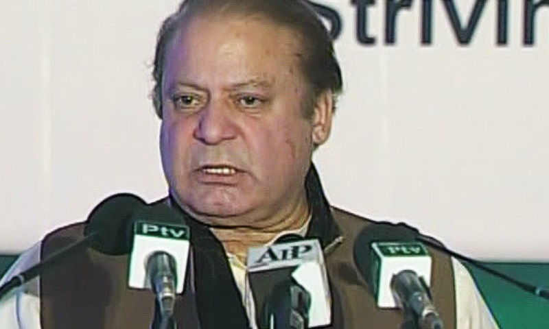 Nawaz Sharif lays foundation stone of Karachi-Hyderabad motorway