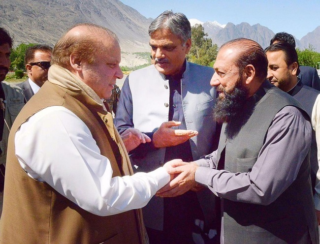 Nawaz Sharif announces mega development projects for Gilgit-Baltistan