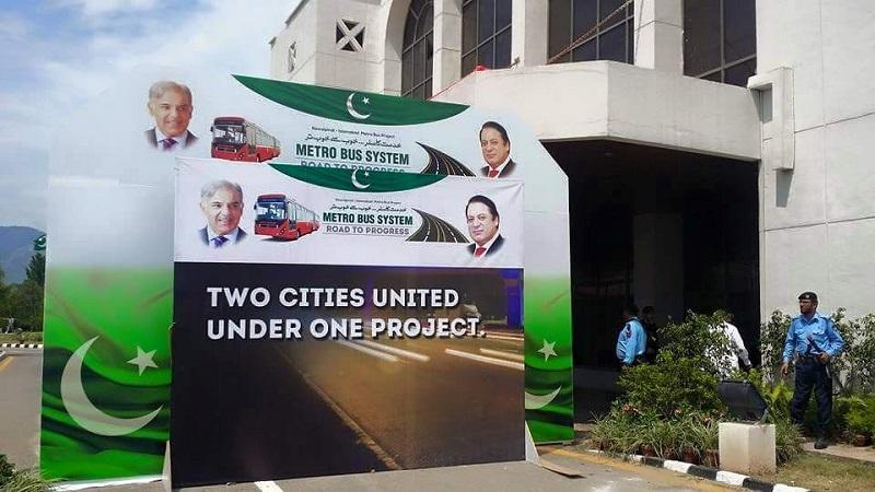 Nawaz Sharif inaugurates Rawalpindi-Islamabad Metro Bus service