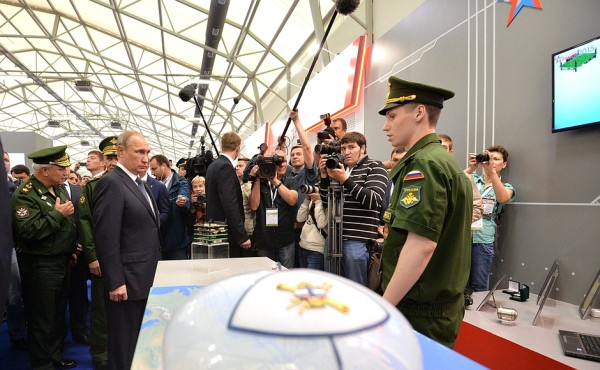 President of Russia Vladimir Putin at Army-2015