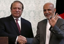 Nawaz, Ghani discuss resumption of Afghan peace process