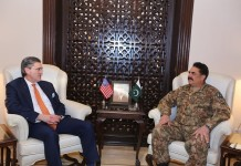 US special envoy discusses Afghan situation with General Raheel