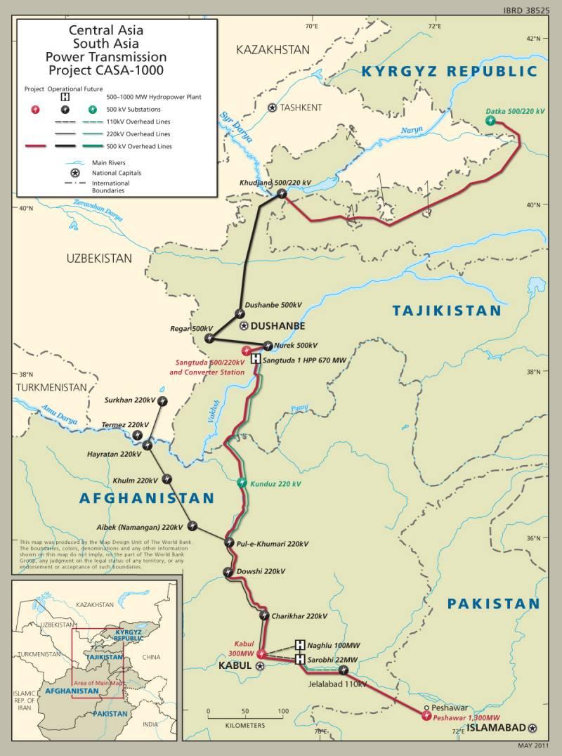 quadrilateral Summit of CASA-1000 in Tajikistan