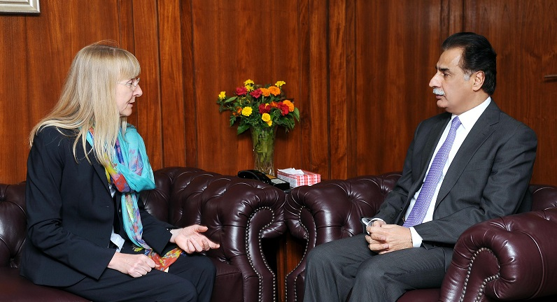 Ambassador of Germany Ina Lepel and Sardar Ayaz Sadiq
