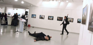 No security arrangements were in place where Ambassador Karlov was killed