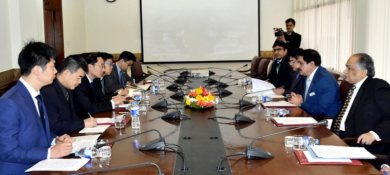 Chinese envoy Sun Weidong and security adviser Nasser KhanJanjua