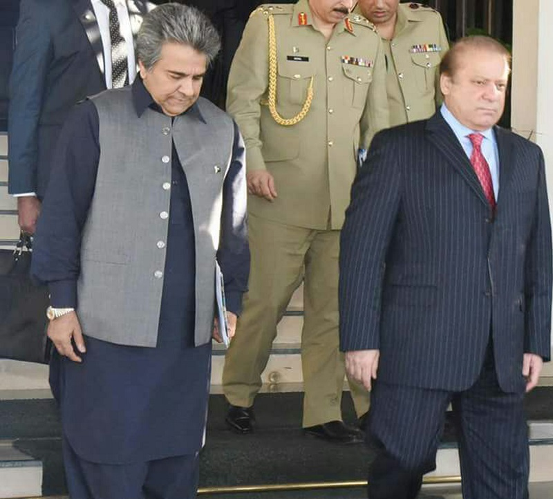 Nawaz Sharif and Chaudhry Abdul Ghafoor
