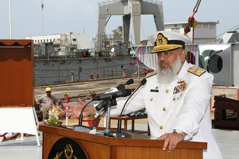 Deputy Chief of Naval Staff (Projects) Vice Admiral Arifullah Hussaini