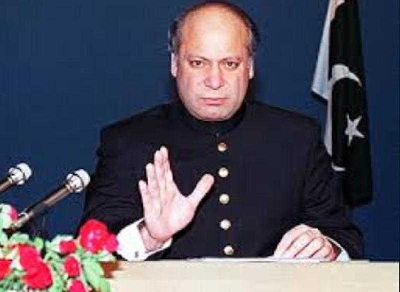 PM nawaz addressing nation after pakistan went for its first nuclear test on May 28, 1998