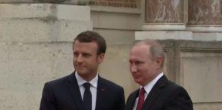 Putin reaches France to discuss Syrian crises with Macron