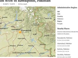 Earthquake jolted Islamabad Pakistan