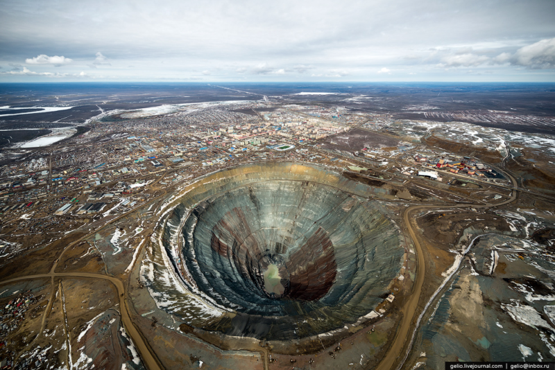Collapse of Mir Mine in Yakutia