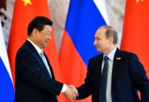 Russian President Vladimir Putin with Chinese President Xi Jinping
