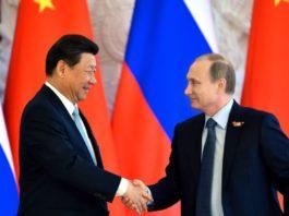 Russian President Vladimir Putin with Chinese President Xi Jinping