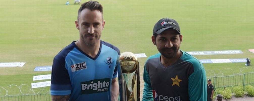 Faf du Plessis and Sarfraz Ahmed - Independence Cup - Pakistan vs World XI