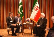 PM Abbasi meets Iranian President Hassan Rouhani on the sidelines of the UNGA session