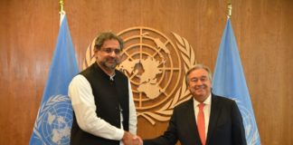 Abbasi meeting with UN Secretary General in UNGA