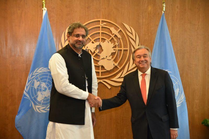 Abbasi meeting with UN Secretary General in UNGA