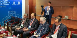 meeting of General of the Police of the Russian Federation Vladimir Kolokoltsev, with Interior Minister of the Islamic Republic of Pakistan Ahsan Iqbal on the sidelines of the Interpol General Assembly in Beijing China