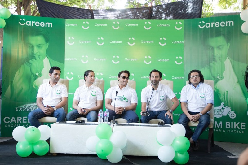 Careem Bike Service launched in Karachi, Shoaib Akhtar led Careem Bike rally