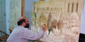 Jimmy Engineer creative art work on display at Jordan National Gallery of Fine Arts