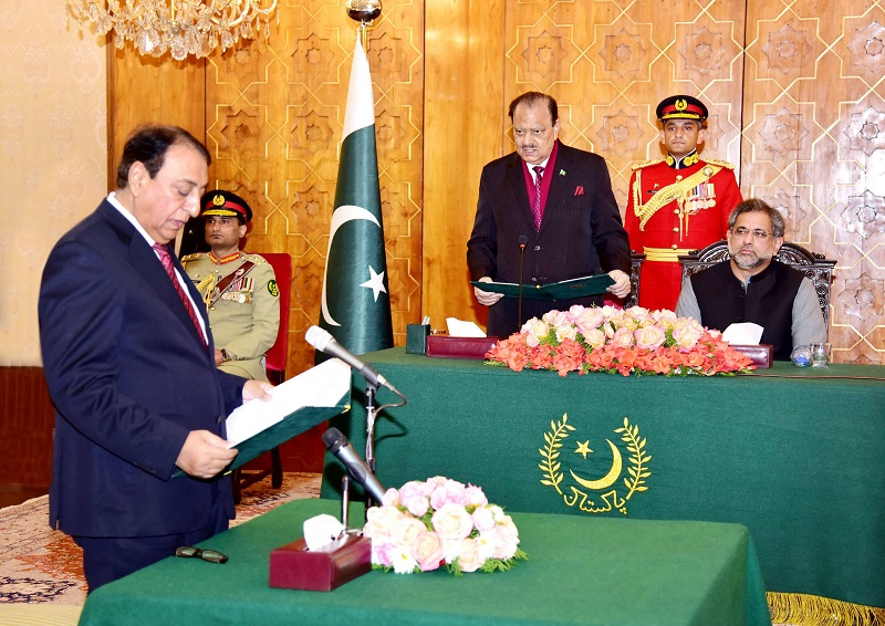 Rana Afzal takes oath as State Minister for Finance