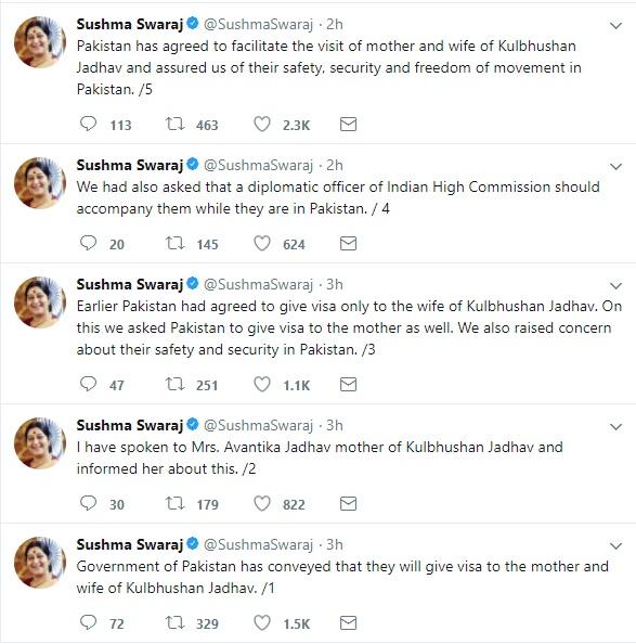 Pakistan allows Kulbhushan Jadhav to meet his wife, mother