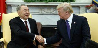 Trump hosts Nazarbayev at the White House