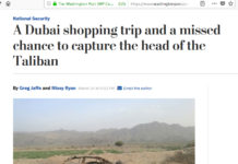 Former head of Afghan Taliban Mullah Akhtar Mansour was coming back from Dubai after shopping when was killed in Pakistan, reports Washington Post