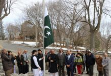 Pakistan Day: Pakistan's flag hoisted at High Commission in Ottawa