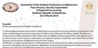 Download Declaration of the Tashkent Conference on Afghanistan https://dnd.com.pk/download-declaration-of-the-tashkent-conference-on-afghanistan/140726 via @Dispatch News Desk