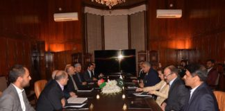 NSA Atmar is meeting with Mohammad Masoom Stanekzai, Head of NDS, Wais Ahmad Barmak, Interior Minister Afghanistan while talks Afghan Ambassador in Pakistan Omar Zakhilwal also joined talks.