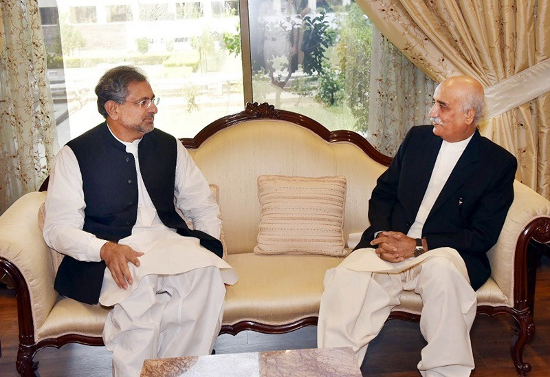 PM Khaqan Abbasi And Opposition Leader Meet to Decide Caretaker PM