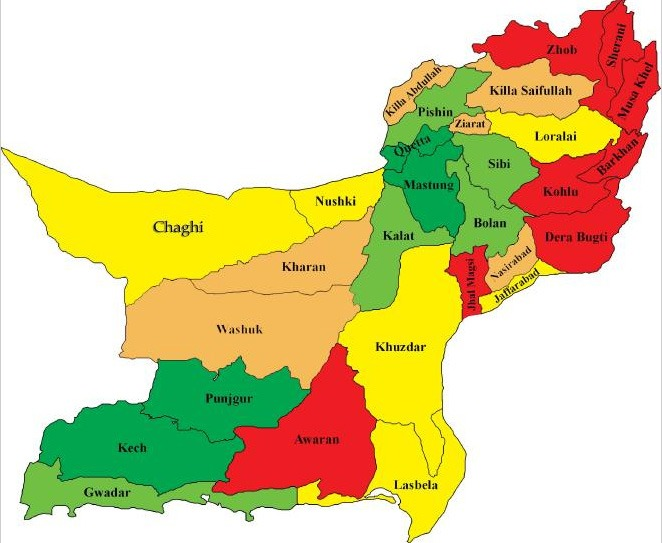 Balochistan Provincial Assembly General Elections Polling Scheme 2018 Map