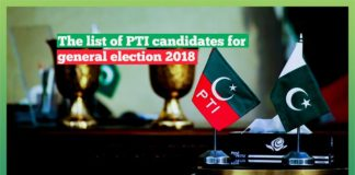 PTI Candidates for National Assembly Constituencies in Sindh & Sindh Assembly Constituencies