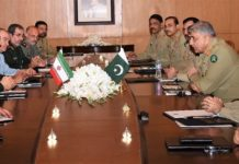 COAS underlines need to further enhance Pak-Iran military to military cooperation