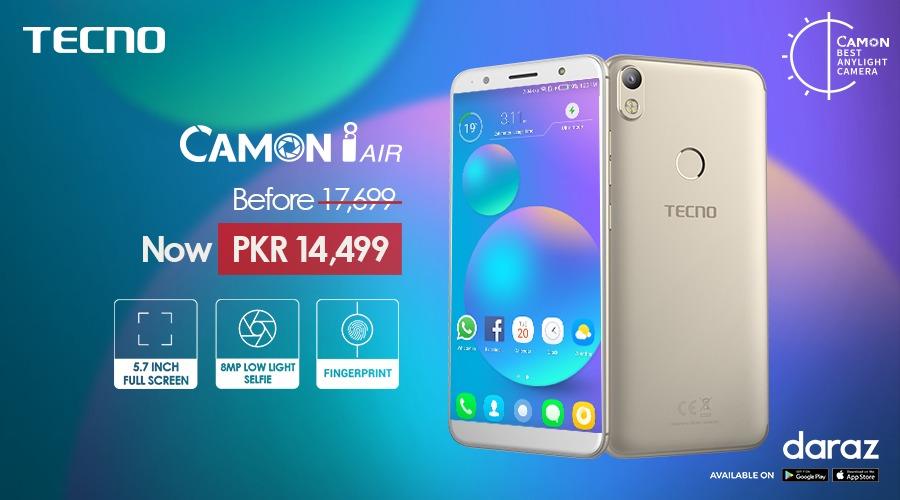 TECNO Camon i Air price slips to Rs 14,499 after TECNO-Daraz partnership
