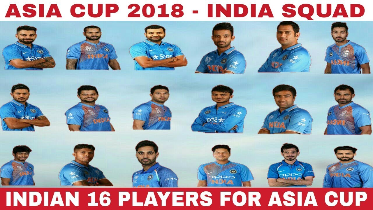 Indian Squad Asia cup 2018