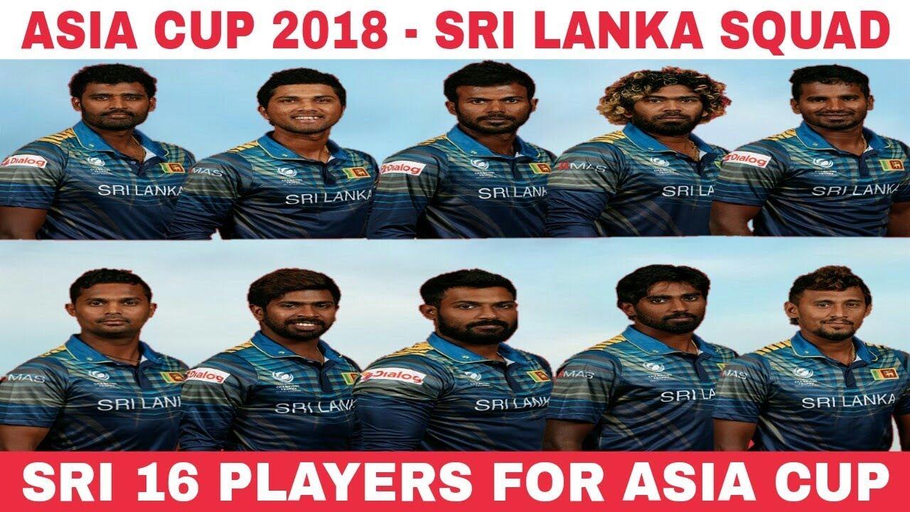 Sri Lankan squad Asia cup 2018