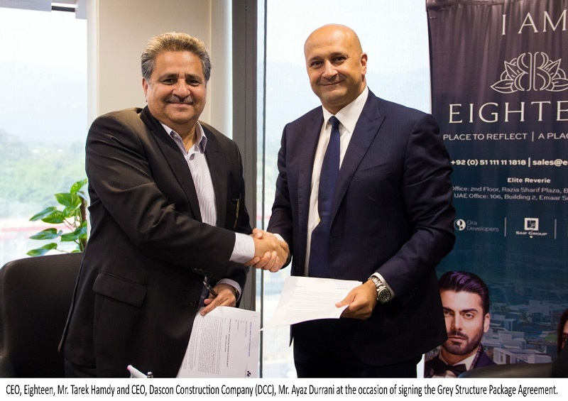 Eighteen inks agreement with Dascon Construction Company