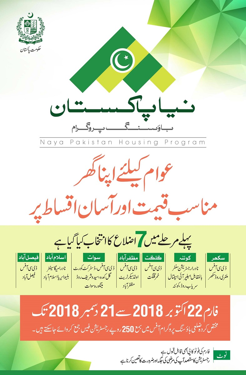 Download Naya Pakistan Housing Scheme Registrations Forms