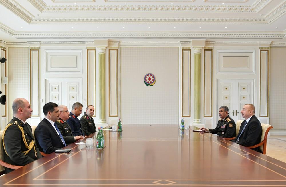 General Staff of Turkish Armed Forces met President Ilham Aliyev