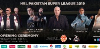HBL PSL 2019 Opening Ceremony artists revealed