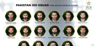 Pakistan announces 16-member ODI Squad for South Africa Series