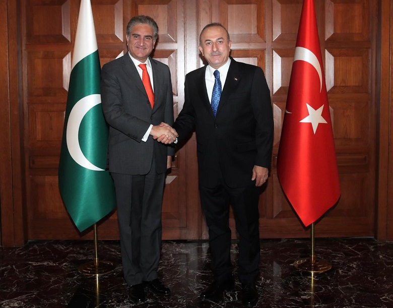 Republic Day of Turkey - The Foreign Minister Shah Mahmood Qureshi has extended felicitation to his Turkish Counterpart Mevlut Cavusoglu on 97th Republic Day of Turkey to be observed on October 29. The felicitation was extended to Turkey's Foreign Minister Mevlut Cavusoglu when he called Qureshi on Wednesday, and exchanged views on matters of mutual interest and reviewed progress on bilateral cooperation in diverse fields. During the telephonic conversation, the two foreign ministers expressed satisfaction at mutual collaboration between Pakistan and Turkey at multilateral fora.  Shah Mahmood Qureshi reiterated appreciation for the principled stance taken by Turkey on the Jammu and Kashmir dispute and Turkey's steadfast support in this regard. The foreign ministers agreed to remain in touch on issues of concern to the Muslim Ummah including the rising Islamophobia.  The Turkish foreign minister appreciated the stance taken by Prime Minister of Pakistan Imran Khan on the subject. Mevlut Cavusoglu also conveyed sympathies and condolences at the loss of precious lives in the Peshawar terrorist attack and reaffirmed Turkey's solidarity with Pakistan.